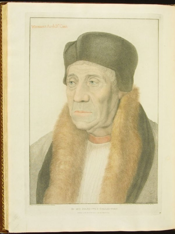 Warham, Archbishop of Canterbury , plate 80 in the book Imitations of Original Drawings by Hans Holbein in the Collection of His Majesty (London: John Chamberlaine, 1792)