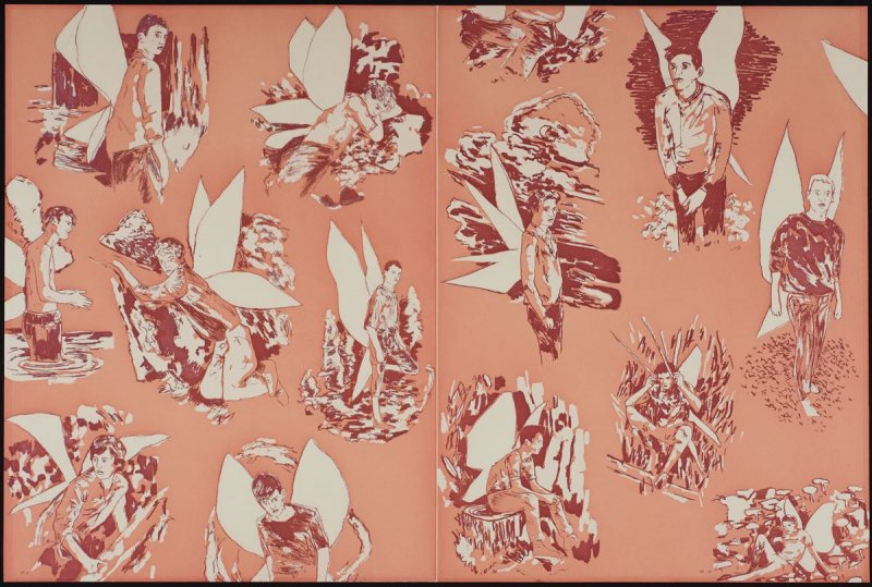 """Revised Endpapers for """"The Homesexual Neurosis"""" (pink)"""