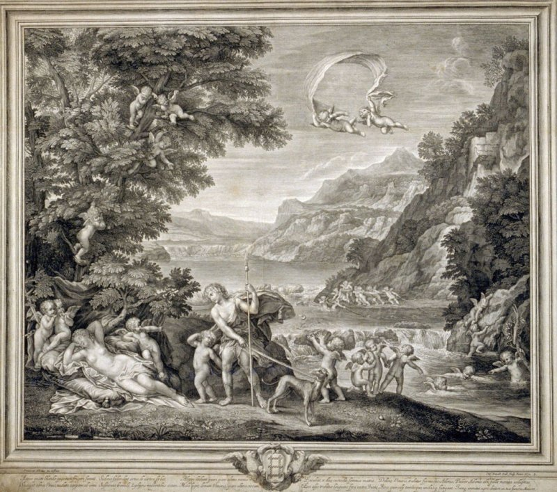 Venus Asleep Surrounded by Cupids, from the series The Loves of Venus and Adonis