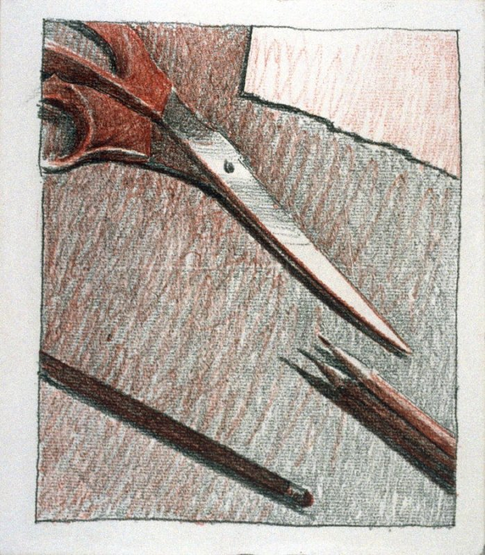 Working Proof *2 for Untitled (scissors)