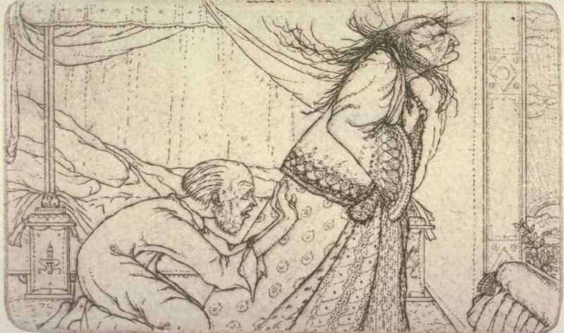 """""""The sun-rising"""" from Illustrations For The Fisherman And His Wife."""
