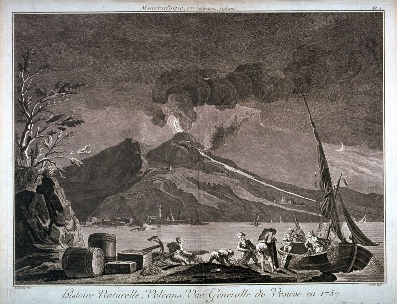 Vue Generalle du Vesuve, en 1757 (View of Vesuvius in 1757), pl. 1 from Minéralogie, 6me Collection. Volcans