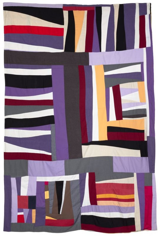 Strips-and-Strings Quilt