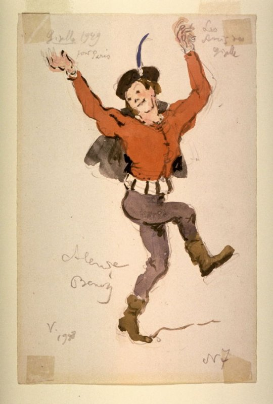 Giselle: costume sketch of a boy