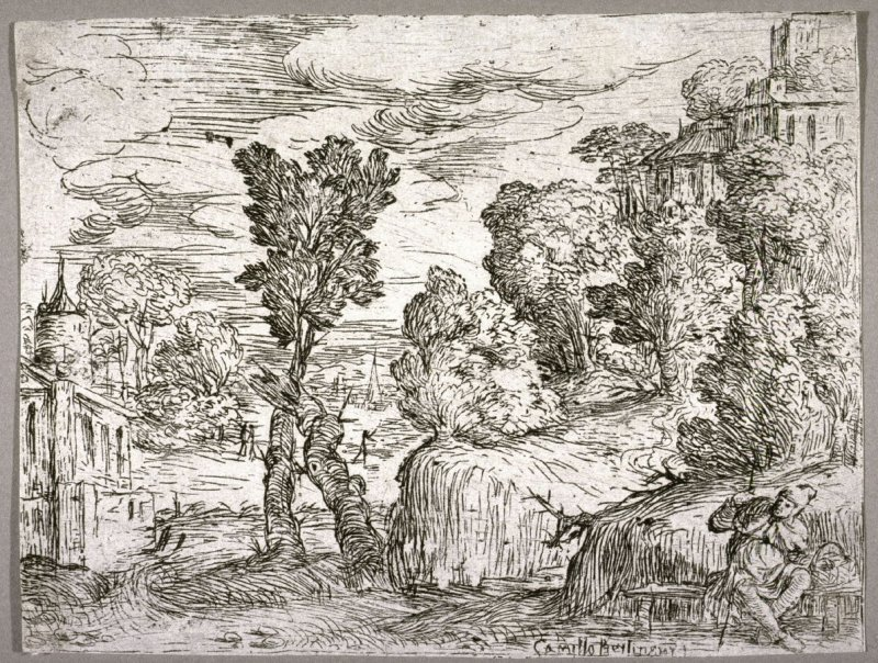 Landscape With a Pilgrim on a Bench