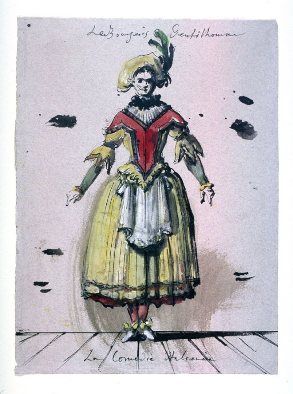 Costume design for a young girl from the ballet Le Bourgeois Gentilhomme: