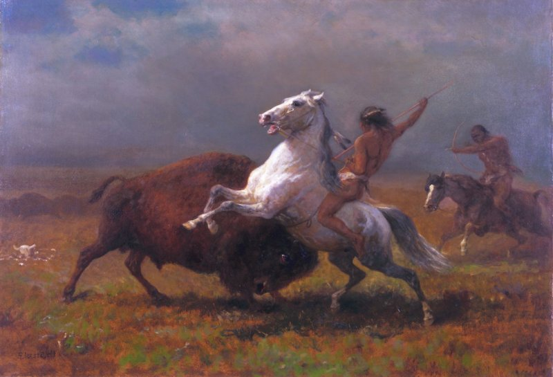 "Study for ""The Last of the Buffalo"""