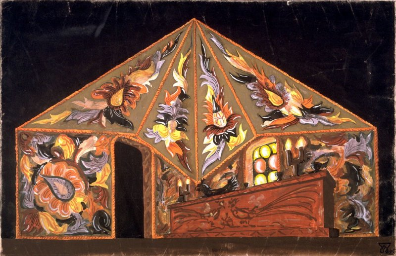 Stage Design, possibly for a ballet
