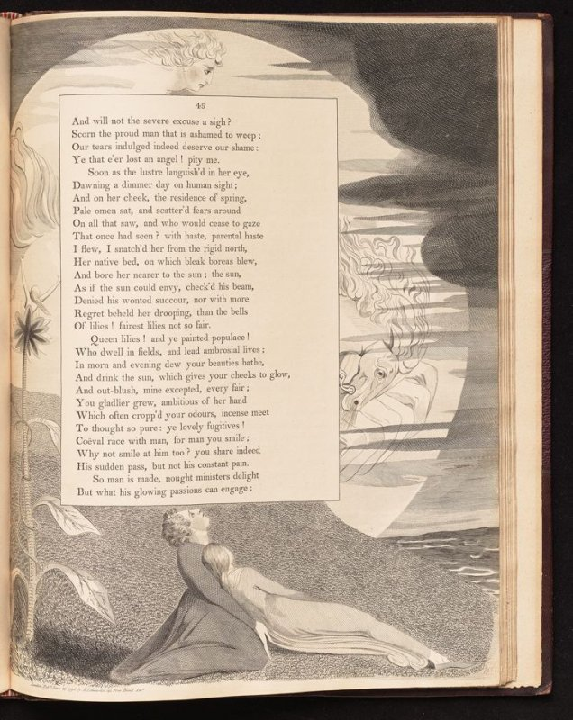 """[""""As if the sun could envy..."""" on page 49, twenty-sixth plate in the book The Complaint and the Consolation, or Night Thoughts by Edward Young (London: Richard Edwards, 1797)"""