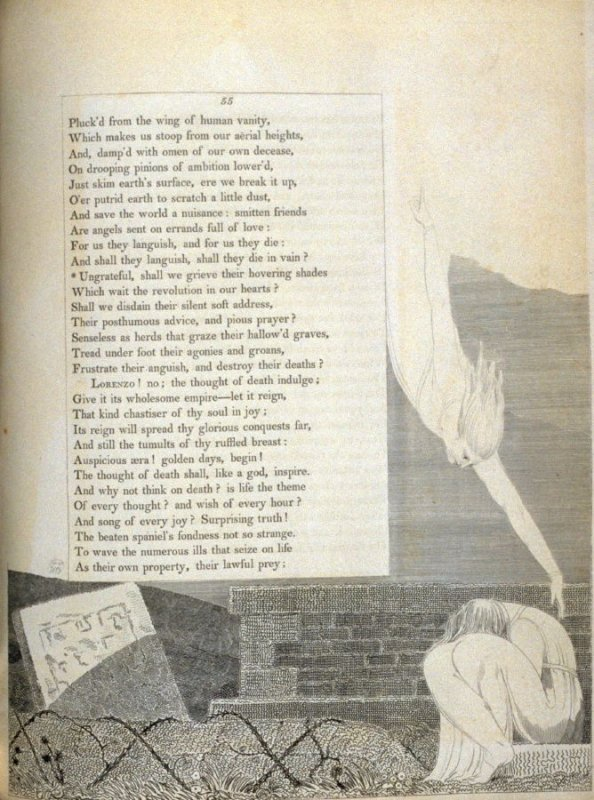 illustration for p. 55 in the book, The Complaint, and the Consolation; or Night Thoughts… (London: R. Edwards, 1797)