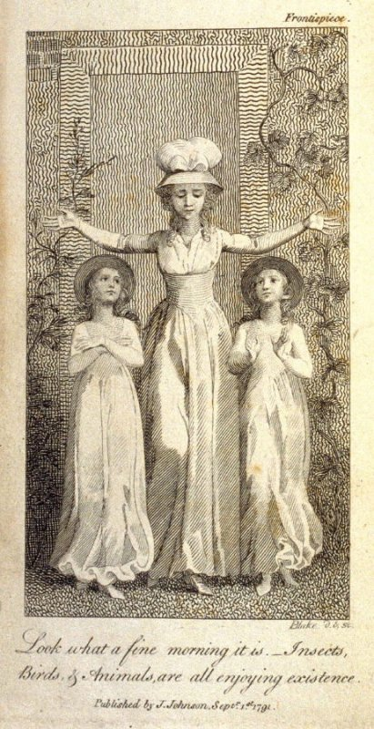 Look what a Fine Morning it is, frontispiece in the book Original Stories from Real Life … to… Form the Mind to Truth and Goodness by Mary Wollstonecraft (London: J. Johnson, 1791)
