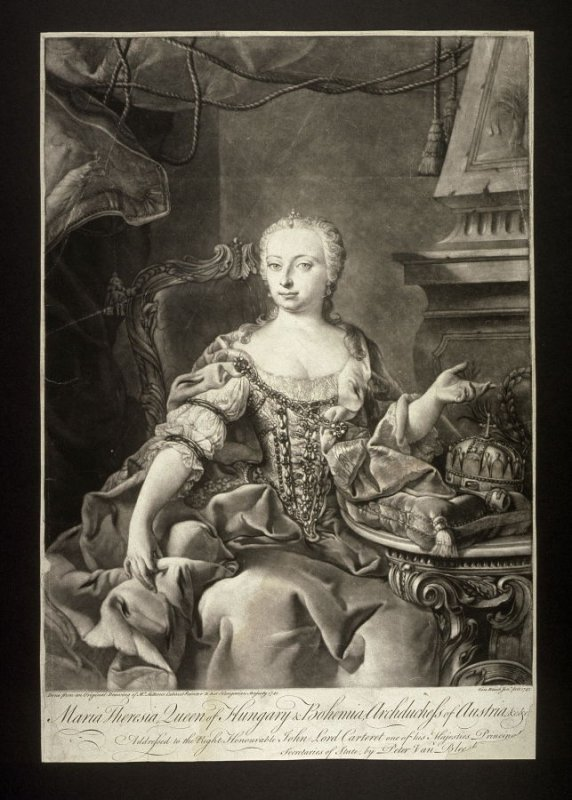 (Portrait of ) Maria Theresia, Queen of Hungary and Bohemia, Archduchess of Austria
