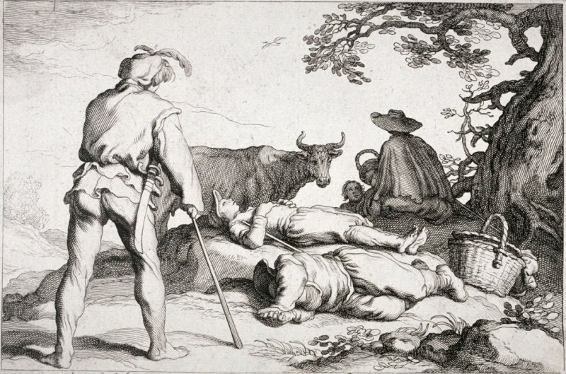 Herdsman, from set of four genre subjects
