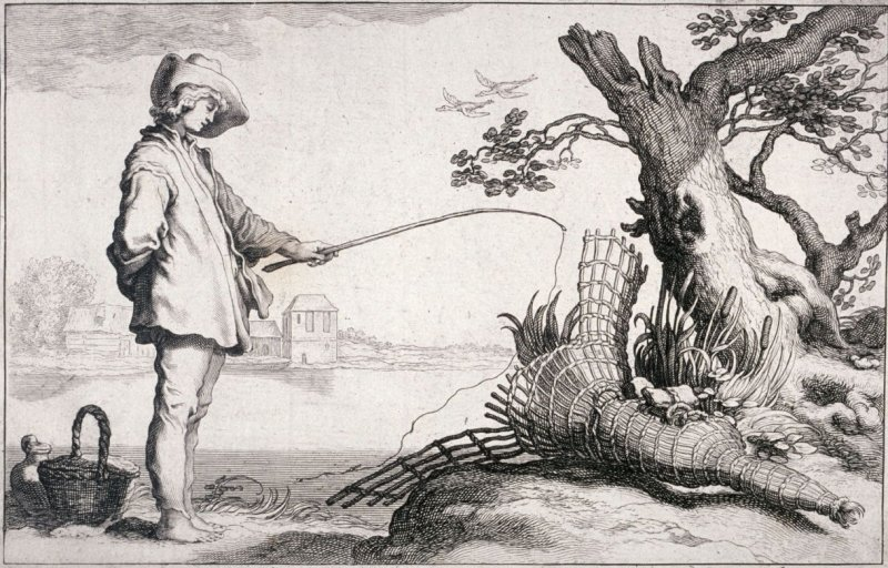 The Young Fisherman, from set of four genre subjects