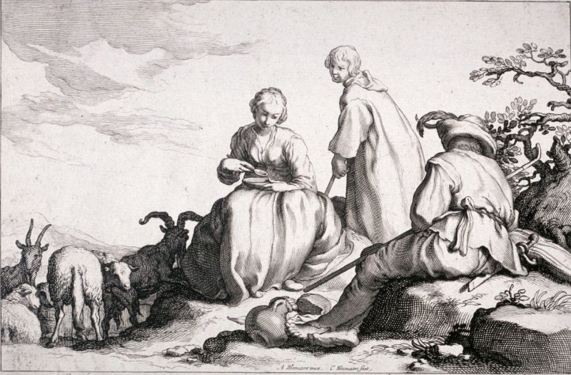 Shepherds, from set of four genre subjects