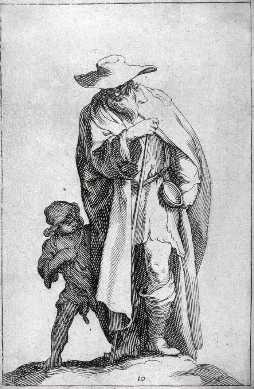 An Old Beggar and a Boy. Plate 10 from a series of 30 plates-The Set of the Beggars.