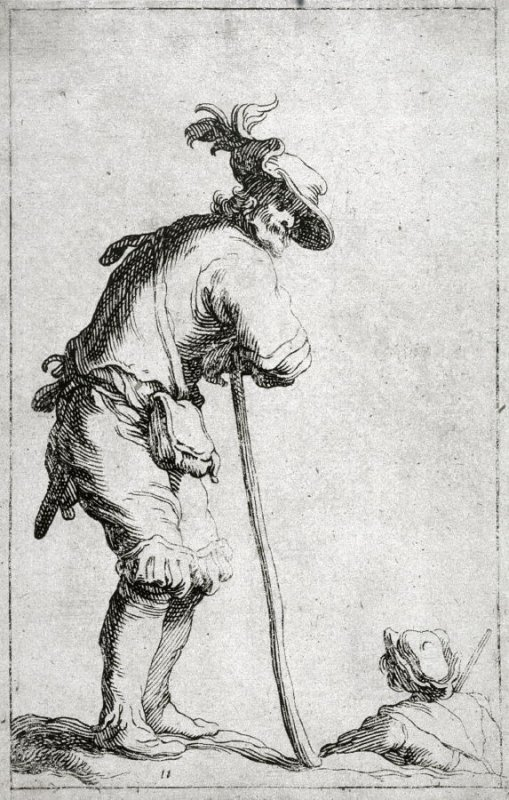 An Old Soldier. Plate 11 from a series of 30 plates; The Set of the Beggars