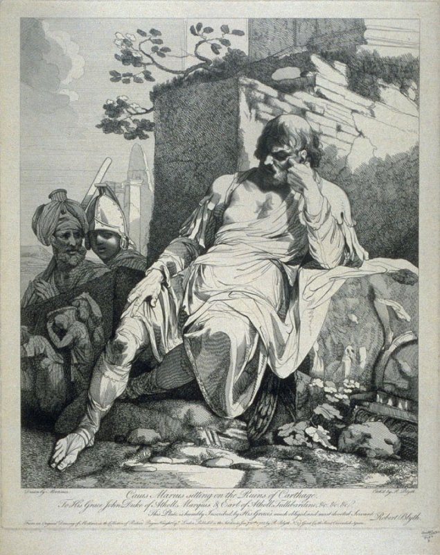 Caius Marius Sitting on the Ruins of Carthage