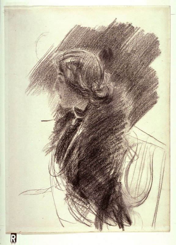 Recto: Portrait Study of a Woman in ProfileVerso: Portrait Study of a Woman
