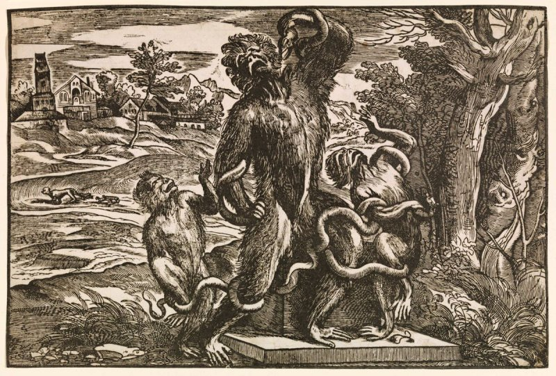 Caricature of the Laocoon