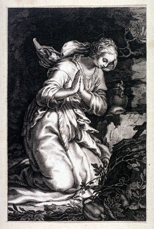 St. Eugenia (from a series of 25 engravings of the Hermits)