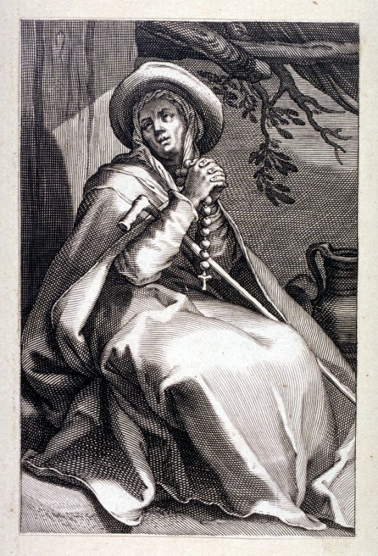 St. Melania the Elder (One from) A series of 25 engravings of the Hermits