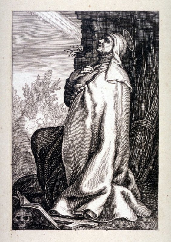 St. Paula (One from) A series of 25 engravings of the Hermits