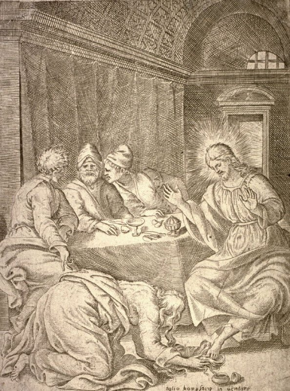 The Magdalen Anointing the Feet of Christ, from the series The Passion of Our Lord Jesus Christ