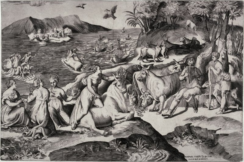 The Rape of Europa, after Raphael