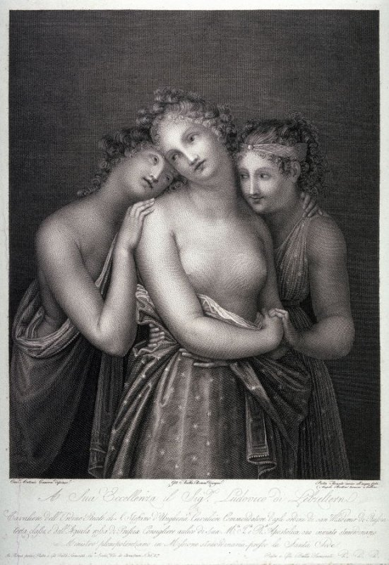 Three Young Women, after Canova