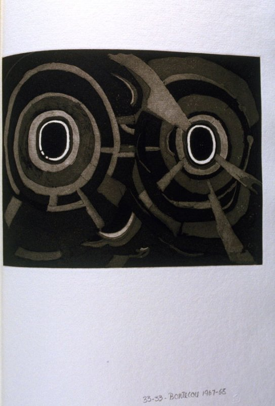 Untitled Abstract Illustration #6 in the book Fifth Stone, Sixth Stone (Long Island, NY: Universal Limited Art Editions, 1968)