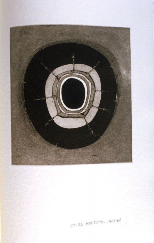 Untitled Abstract Illustration #5 in the book Fifth Stone, Sixth Stone (Long Island, NY: Universal Limited Art Editions, 1968)