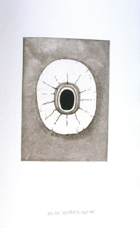 Untitled Abstract Illustration #4 in the book Fifth Stone, Sixth Stone (Long Island, NY: Universal Limited Art Editions, 1968)