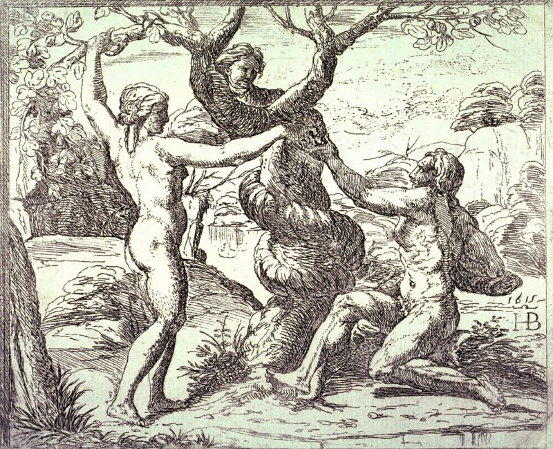 Adam and Eve Eating the Forbidden Fruit