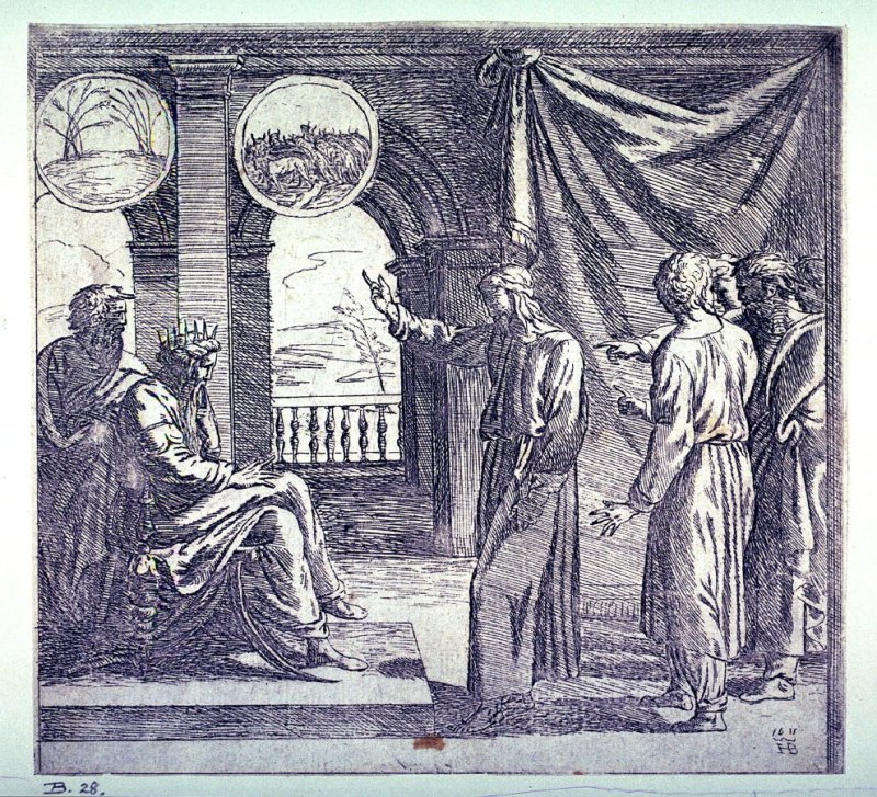 Joseph Interprets Pharaoh's Dreams, after the fresco by Raphael for the Vatican Loggia