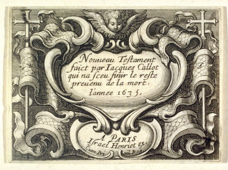 The New Testament-Frontispiece to Jacques Callot's New Testament Series