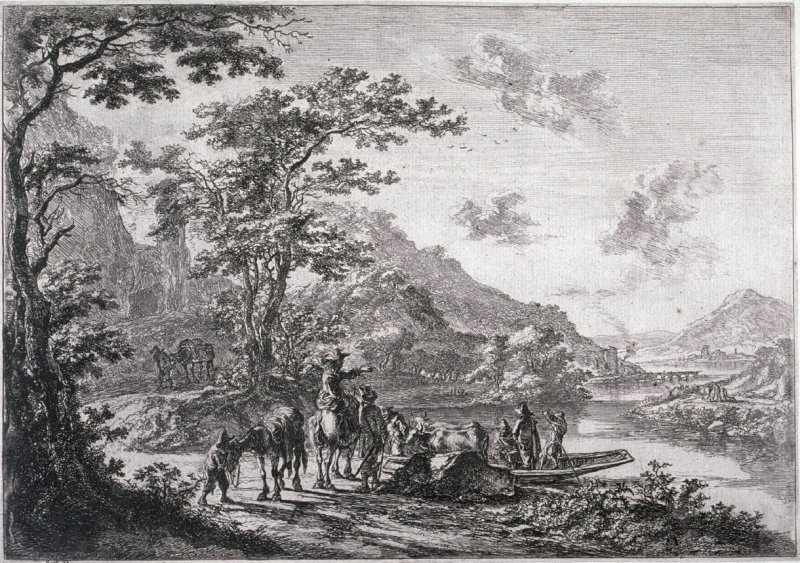 View of the Tiber in the Campagna, from the series Landscapes of the Environs of Rome