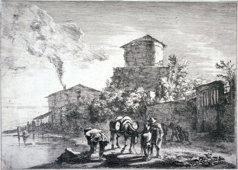 The Muleteer, from the series Landscapes of the Environs of Rome