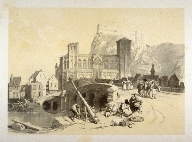 Plate 15: Huy, on the Meuse from 'Sketches on the Moselle, the Rhine & the Meuse' (London, Hodgson & Graves, 1838)