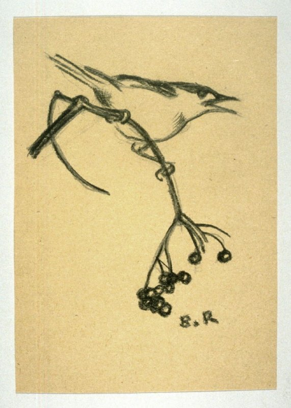 Bird on a Branch of Berries