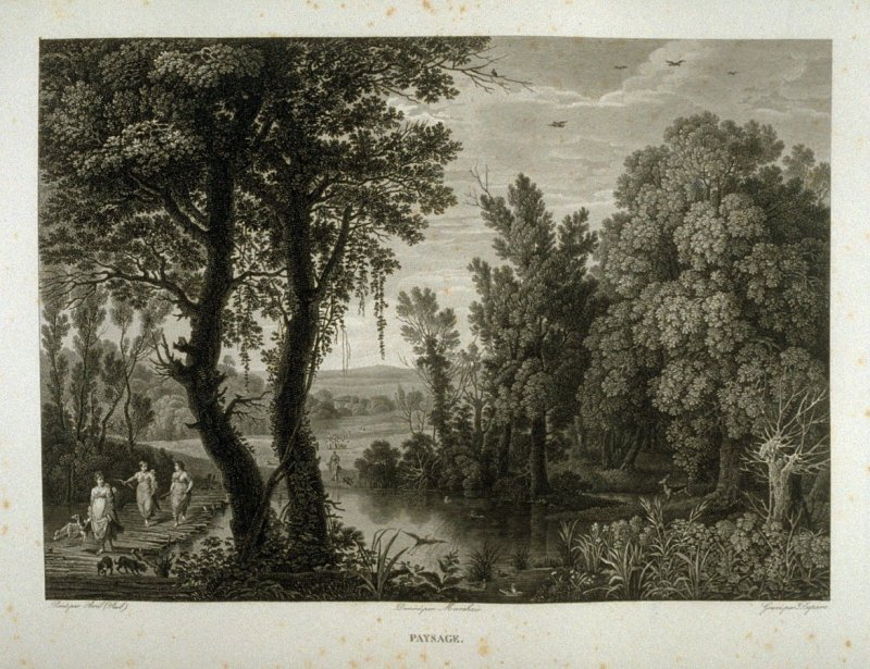 Paysage (Landscape)...fifty first plate in the book... Le Musée royal (Paris: P. Didot, l'ainé, 1818), vol. 2