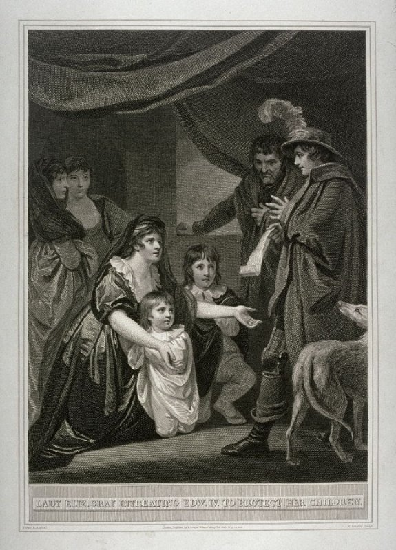 Lady Eliz. Gray Entreating Edw. IV to Protect her Children