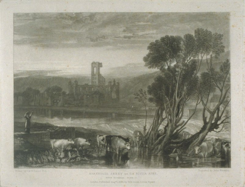 Plate 16: Kirkstall Abbey on the River Aire, from the series 'The Rivers of England'