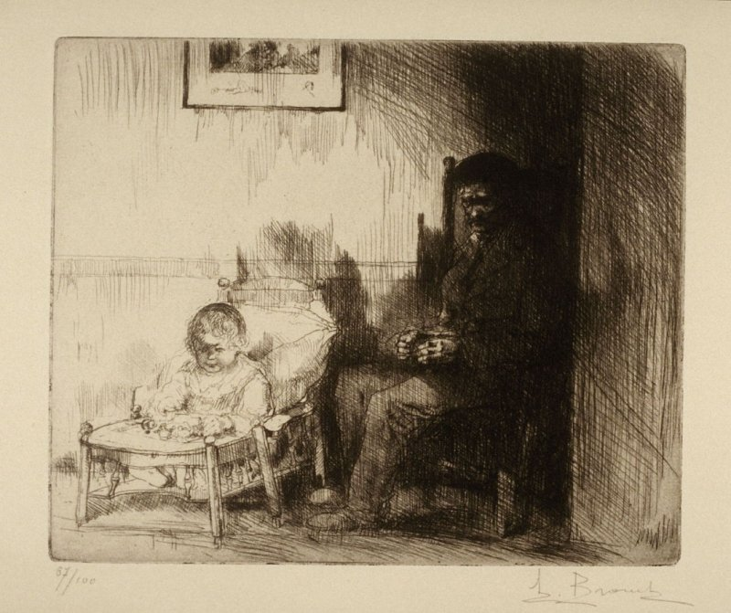Childhood - Infant and Old Man