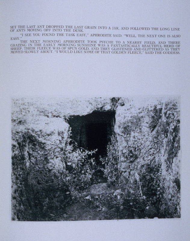 """""""Set the last ant dropped. . .,"""" page in the book Sardinia (Oakland: Crown Point Press, 1975)"""