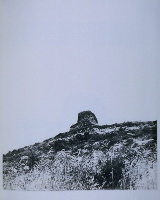 Hill with stone ruin,page in the book Sardinia (Oakland: Crown Point Press, 1975)