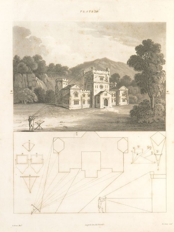 Plate 24 in the book The Principles of practical Perspective… (London: Leigh and Son…, 1835), part 1