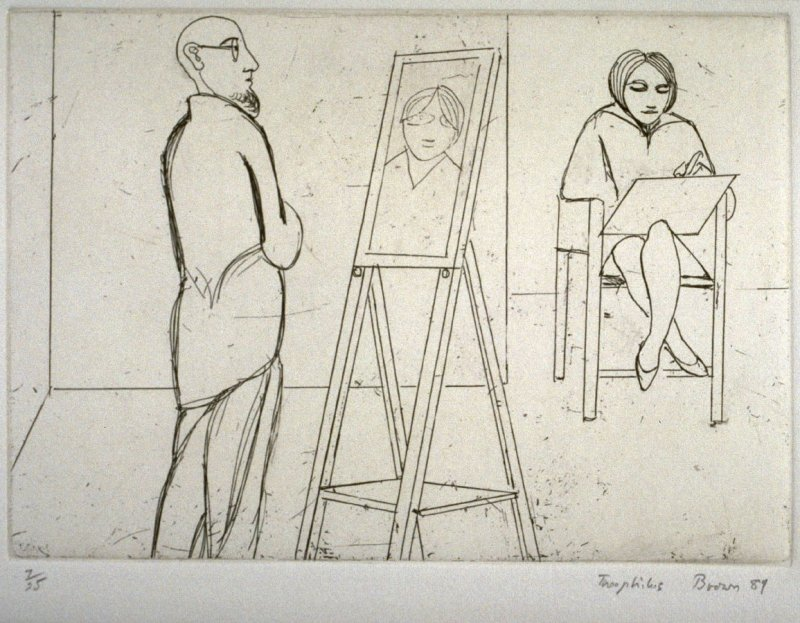 Beth and Mark, Drawing, plate 10 in the portfolio Twenty Etchings