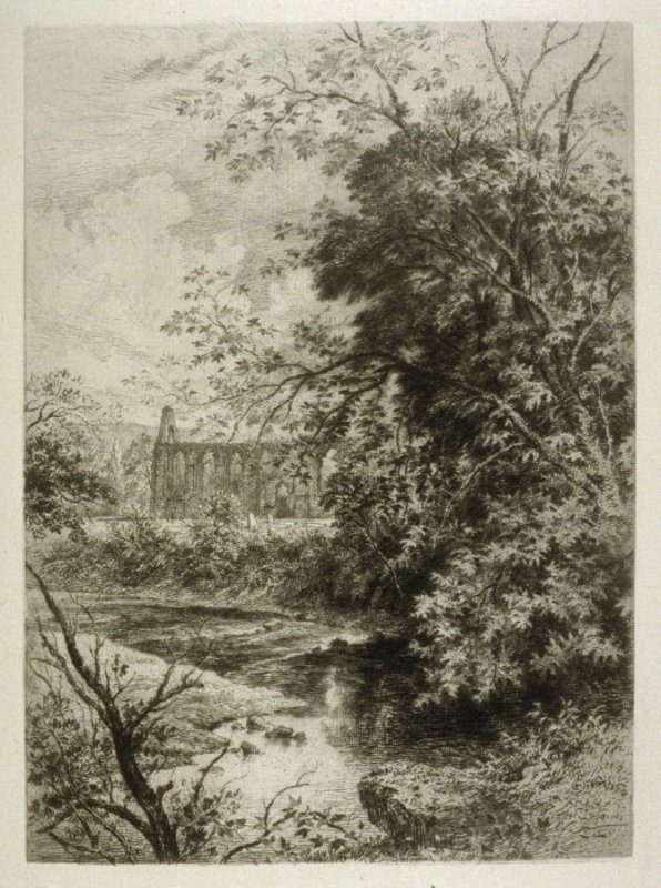 Bolton Priory - No.XI from Ruined Abbeys of Yorkshire, published in The Portfolio