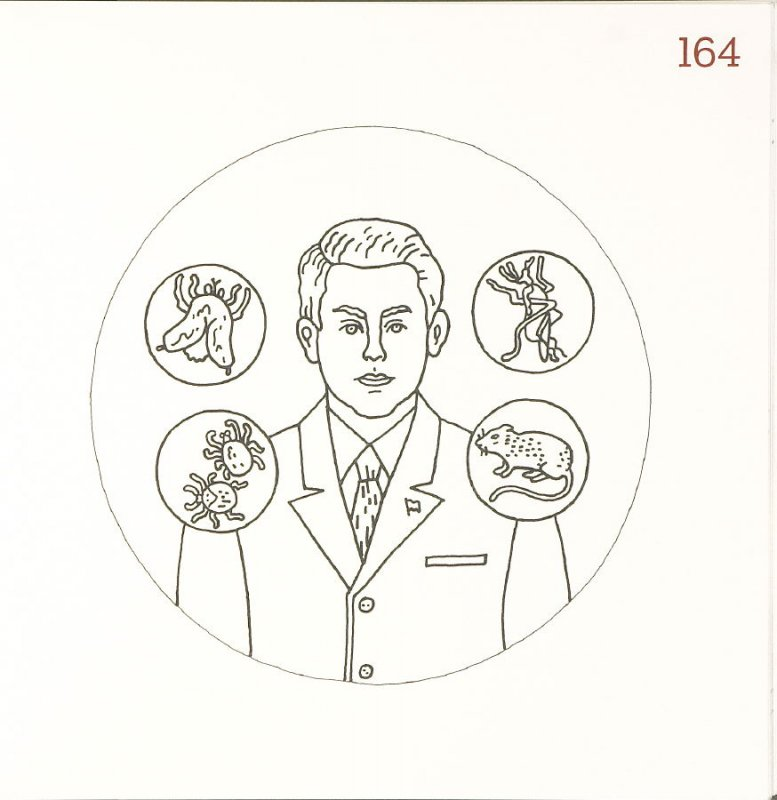 Untitled (Man with Icons), page 164 in Another Name / General Instruction